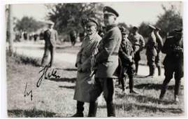 WWII GERMAN REICH HITLER PHOTO WITH SIGNATURE