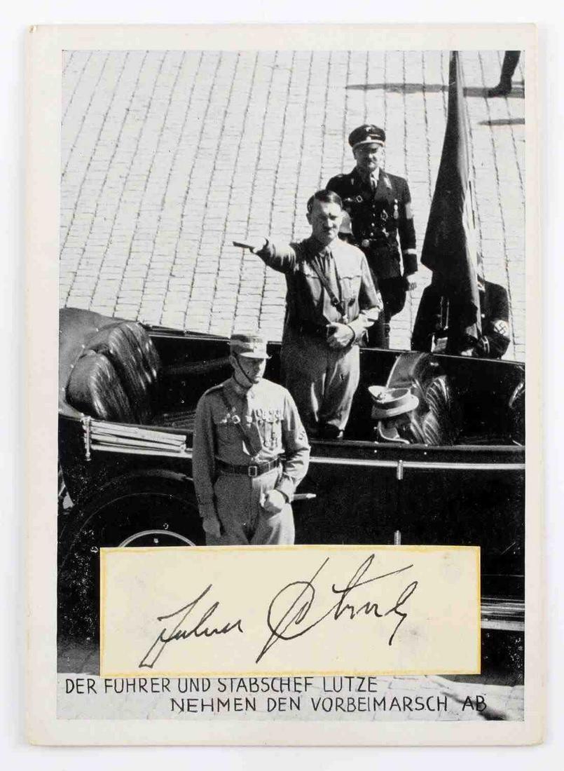 WWII GERMAN NSDAP SIGNED PHOTO  OF JULIUS SCHREK
