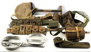 WWII US & BRITISH WEB GEAR AMMO BELT CANTEEN MESS
