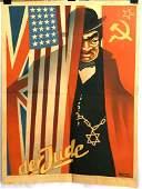 WWII GERMAN THIRD REICH DER JUDE PROPAGANDA POSTER