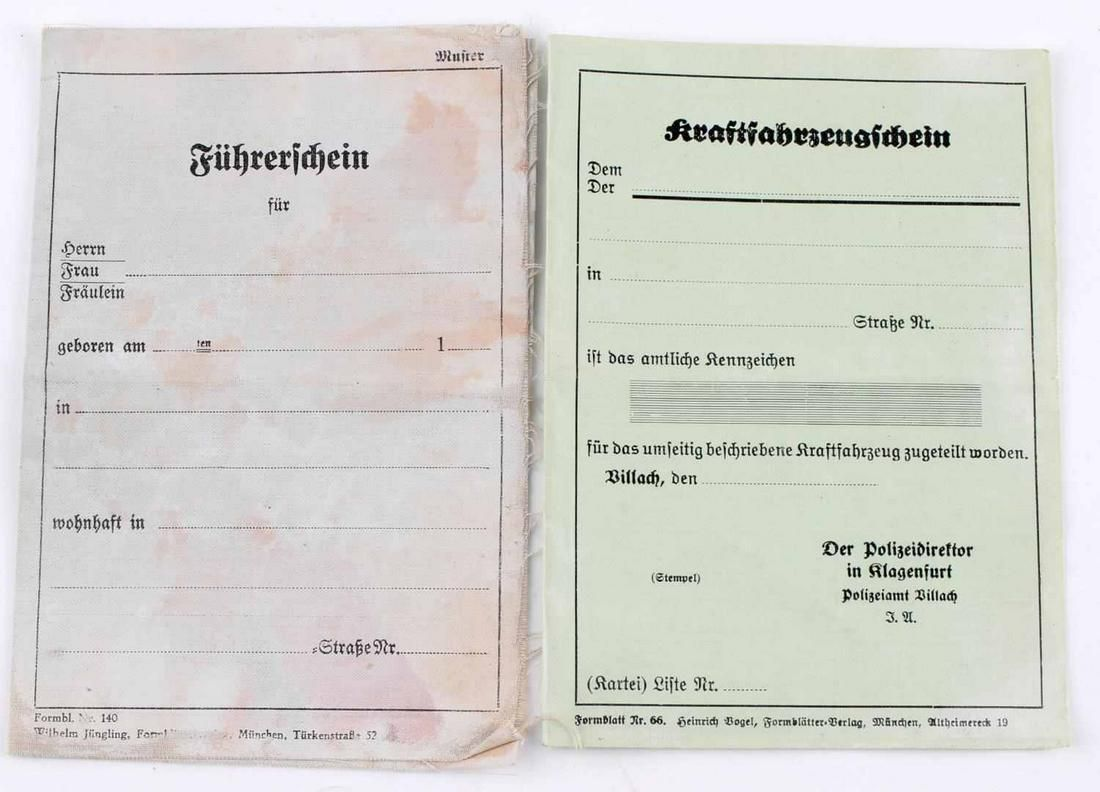 WWII AUSTRIAN THIRD REICH ORIGINAL DRIVERS LICENSE