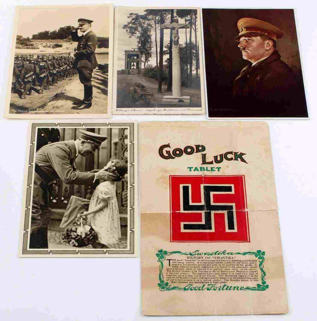 WWII THIRD REICH GERMAN POSTCARD LOT W HITLER
