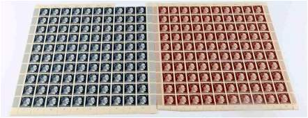 WWII GERMAN THIRD REICH ADOLF HITLER STAMP LOT