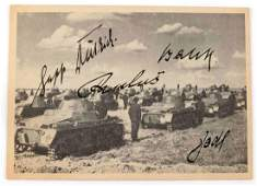 WWII GERMAN REICH PHOTO WITH GENERALS SIGNATURES