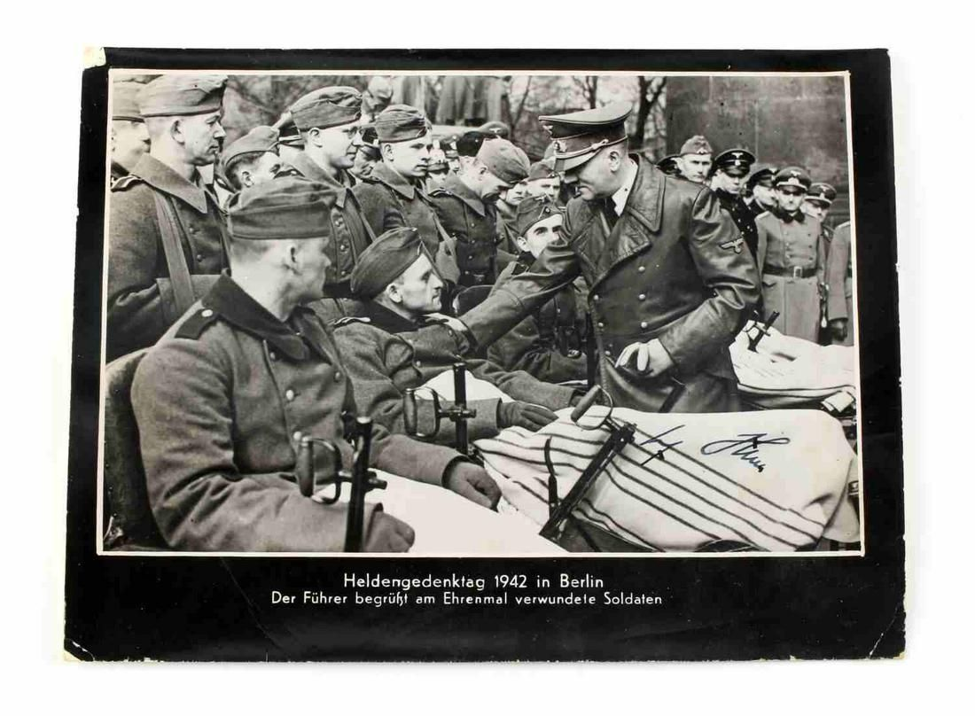 WWII GERMAN REICH ADOLF HITLER SIGNED PRINT 1942