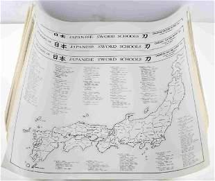 DEALER LOT OF 13 JAPANESE SWORD SCHOOLS POSTERS
