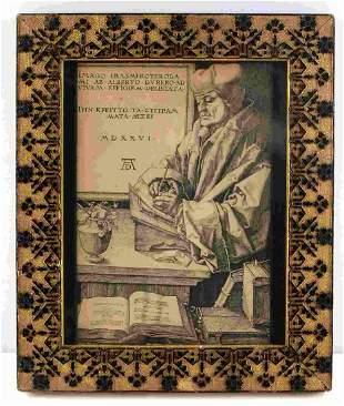PORTRAIT OF ERAMUS ENGRAVING BY ALBRECHT DURER