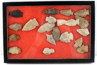 20 FIELD COLLECTED NATIVE AMERICAN ARROWHEAD LOT