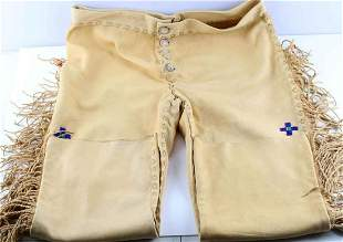 BRAIN TANNED LEATHER NATIVE AMERICAN TROUSERS