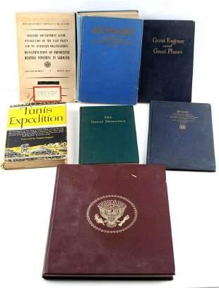 WWII US SECRET DOCS MILITARY & AIR FORCE BOOK LOT
