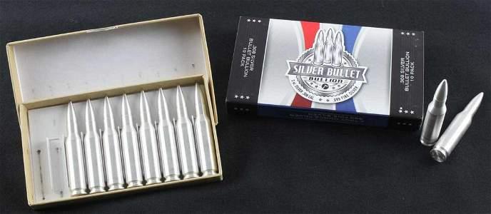 SILVER BULLET BULLION 10 2 OZ EACH .308 ROUNDS