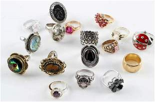 WHITING DAVIS COSTUME DESIGNER AND SILVER RING LOT