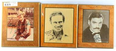 THREE MOVIE STAR AND ENTERTAINER AUTOGRAPHS