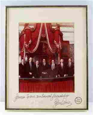 BOB DOLE AND JOHN HEINZ SIGNED AND INSCRIBED PHOTO