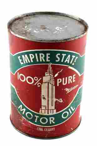 FULL UNOPENED CAN OF VINTAGE EMPIRE MOTOR OIL