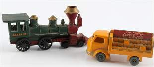 VINTAGE LESNEY PRODUCTS & CO TRUCK AND TRAIN LOT