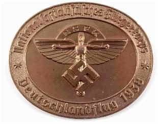 WWII GERMAN THIRD REICH NSFK BRONZE PLAQUE 1131
