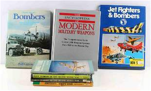 LOT OF 7 MILTARY AND AIRCRAFT RELATED BOOKS