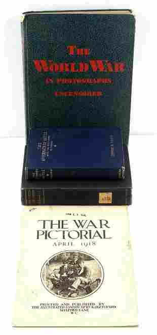 WWI AND WWII ASSORTED PICTORIALS AND BOOKS LOT