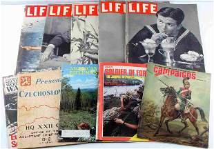 US MILITARY WWII LIFE MAGAZINE WAR MAGAZINE LOT