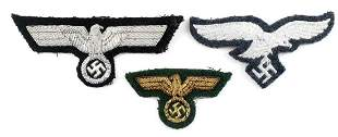 WWII GERMAN ARMY HEER BREAST CAP EAGLE PATCHES