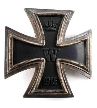 WWI IMPERIAL GERMAN IRON CROSS 1ST CLASS