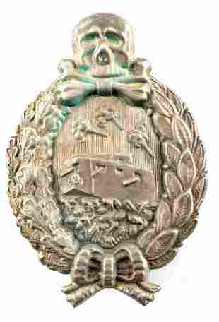 WWI IMPERIAL GERMAN TANKER MEMORIAL BADGE