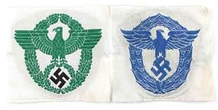 WWII GERMAN THIRD REICH POLICE SPORT SHIRT EAGLES