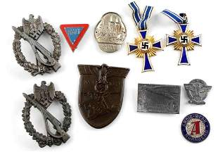 ASSORTED WWII THIRD REICH MEDAL LOT OF 10 CRIMEA