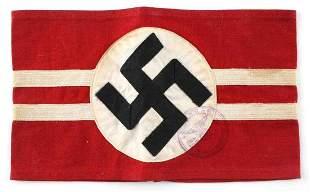 WWII GERMAN THIRD REICH NSDAP STAMPED ARMBAND