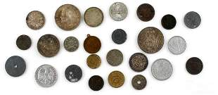 LOT OF 25 FOREIGN COINS GERMAN SWISS ASIAN
