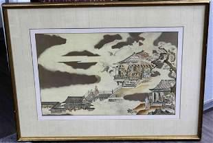 19TH CENTURY ANTIQUE JAPANESE WOODBLOCK PRINT