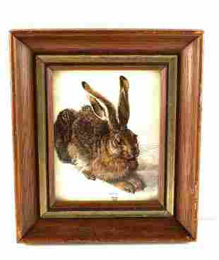 REPRODUCTION YOUNG HARE PRINT BY ALBRECHT DURER