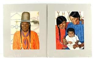 WINOLD REISS NATIVE AMERICAN ART LITHOGRAPH