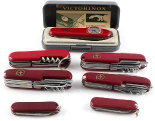 LOT OF 7 VICTORINOX & SWISS ARMY STYLE KNIFE