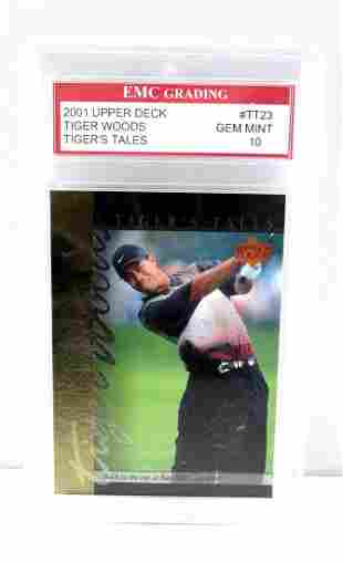 TIGER WOODS 2001 UPPER DECK TIGERS TALES CARD