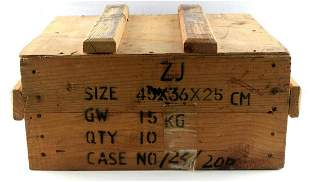 NORINCO AMMO WOOD PALLET BOX MADE IN CHINA 7.62