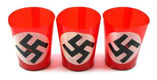 LOT OF 3 WWII GERMAN NSDAP TEALIGHT CANDLE HOLDERS