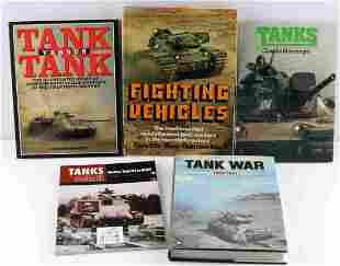 ASSORTED LOT OF 5 MILITARY TANK VEHICLE BOOKS