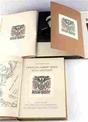 LOT 3 WWII GERMAN BOOKS W ADOLF HITLER