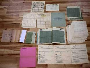 WWII GERMAN MILITARY PAPERS ARTILLERY FLIGHT GRIDS