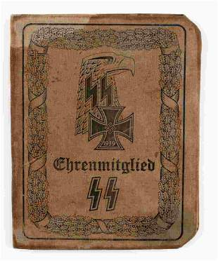WWII GERMAN THIRD REICH SS ID BOOKLET ADOLF HITLER