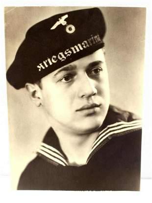 WWII GERMAN NAVY KRIEGSMARINE SOLDIER PHOTO