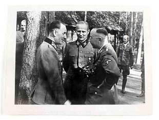 WWII GERMAN PHOTO OF SCHMUNDT WOLFF AND HIMMLER