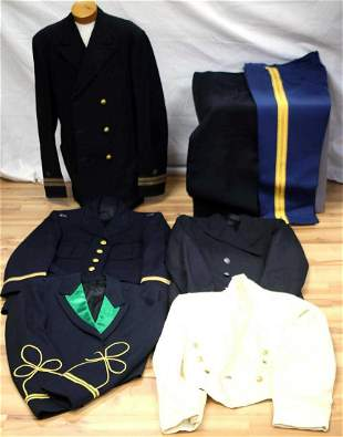 LOT OF 5 US AND CANADIAN MILITARY DRESS UNIFORMS