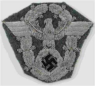 WWII GERMAN THIRD REICH POLICE SLEEVE EAGLE