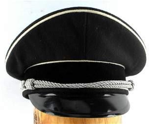 WWII GERMAN THIRD REICH SS OFFICERS VISOR HAT