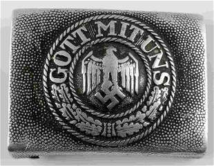WWII GERMAN WEHRMACHT HEER GOT MIT UNS BELT BUCKLE