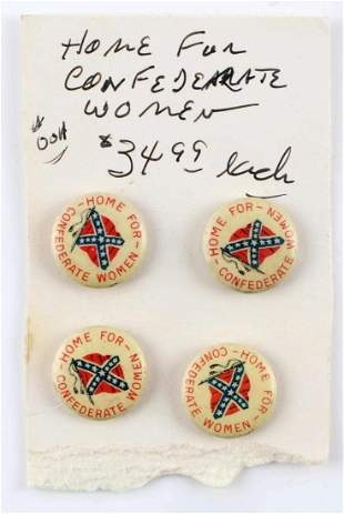 ORIGINAL 1920s HOME FOR CONFEDERATE WOMEN PINS