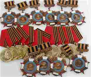 LOT 20 WWII RUSSIAN SOVIET MARSHAL ZHUKOV MEDALS